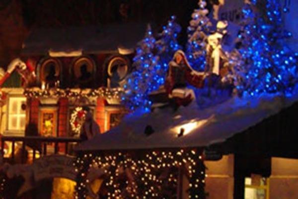 Kerstmarkt-arrangement